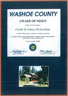 2000 Washoe County Award of Merit